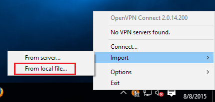 how to use open vpn on window 10