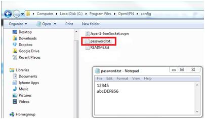 IronSocket - Windows XP OpenVPN Setup Instructions