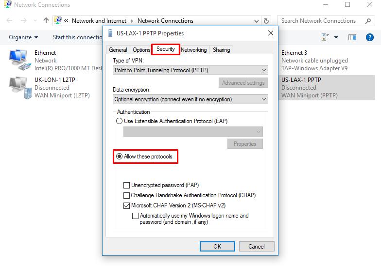 IronSocket - Windows 10 PPTP Setup Instructions
