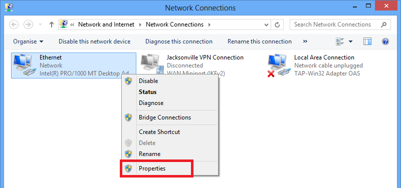 how to change computer vpn to united states